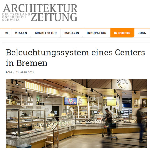 THE LIGHTING SYSTEM OF THE NEW EDEKA CENTER IN BREMEN